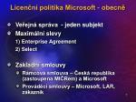 licen n politika microsoft obecn7