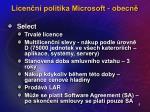 licen n politika microsoft obecn8