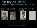 the 1780s to 1850s of siam vietnam diplomatic relations1