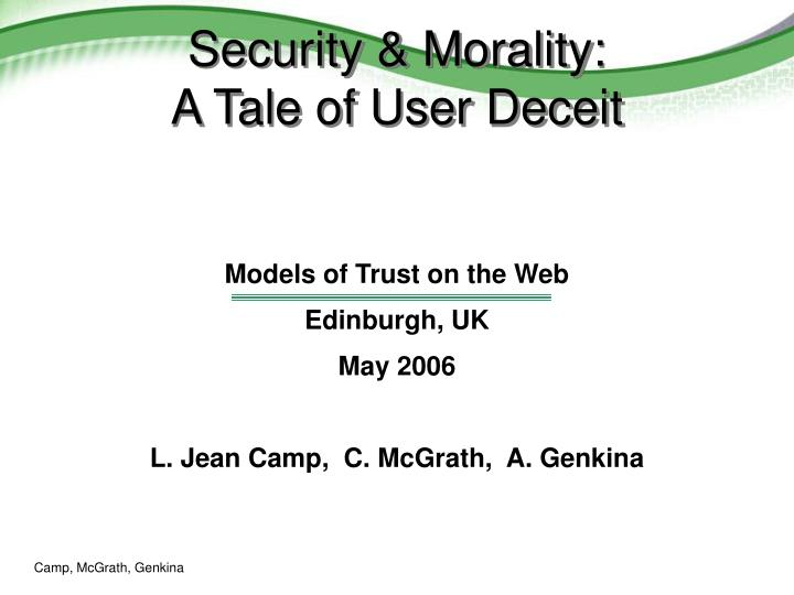security morality a tale of user deceit