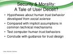 security morality a tale of user deceit1