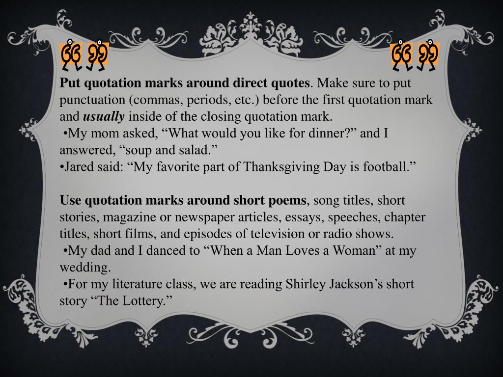 PPT - Quotation Marks PowerPoint Presentation - ID:983685