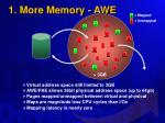 1 more memory awe