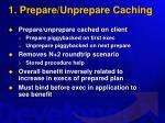 1 prepare unprepare caching