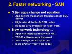2 faster networking san