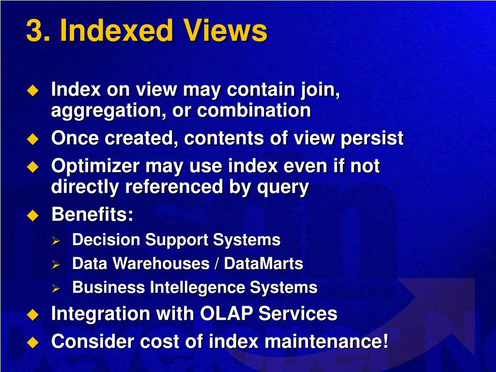 3. Indexed Views