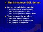 4 multi instance sql server