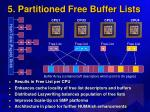 5 partitioned free buffer lists