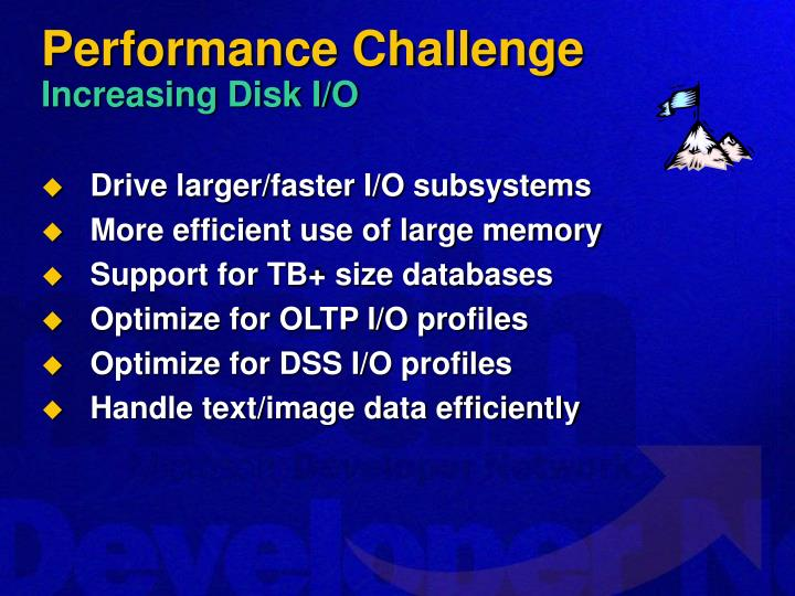 Performance challenge increasing disk i o