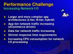 performance challenge increasing network i o