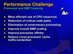 performance challenge processor and smp scale up