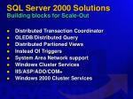 sql server 2000 solutions building blocks for scale out