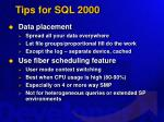 tips for sql 2000