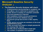 microsoft baseline security analyzer 2