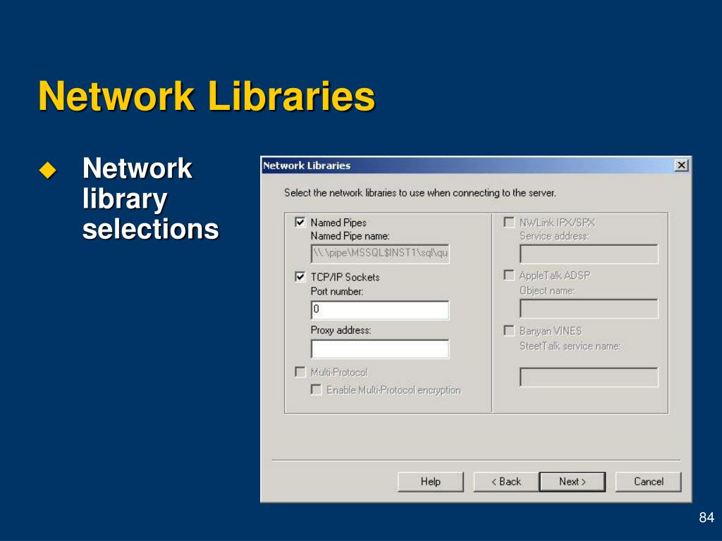 Network Libraries
