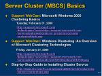 server cluster mscs basics