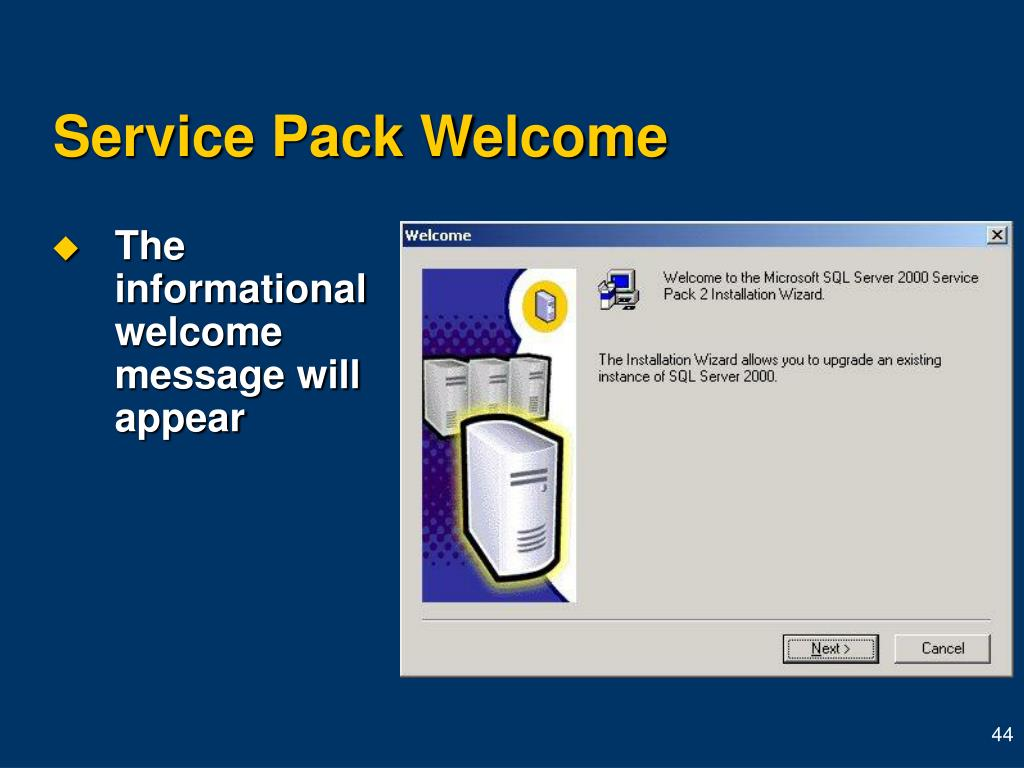 Service Pack Welcome