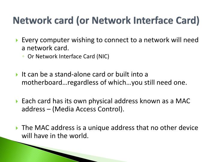Network card (or Network