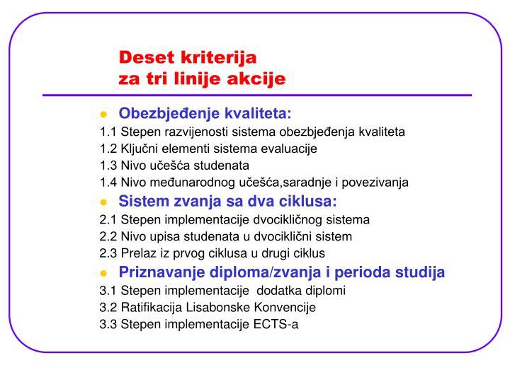 Deset kriterija