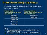 virtual server setup log files 7