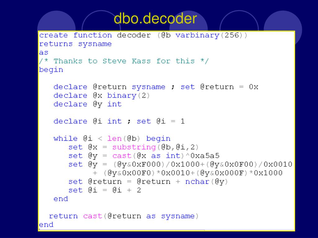 dbo.decoder