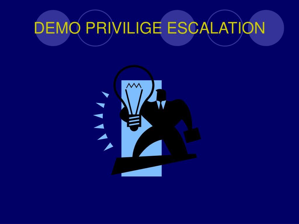DEMO PRIVILIGE ESCALATION