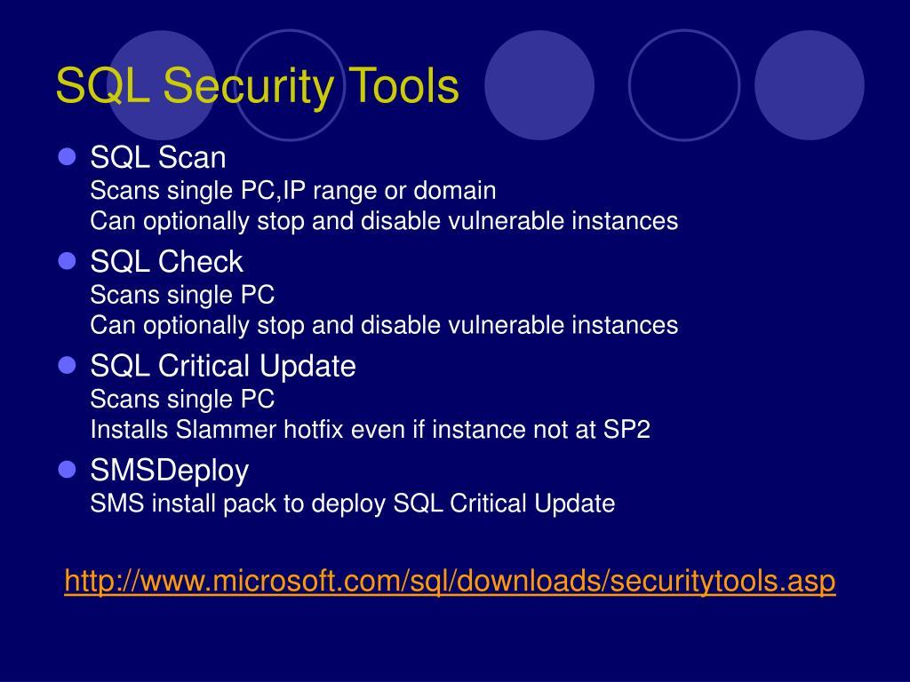 SQL Security Tools