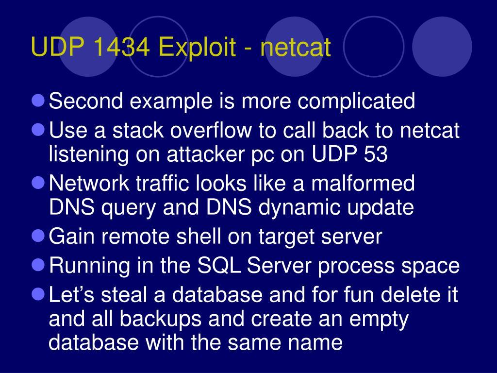 UDP 1434 Exploit - netcat