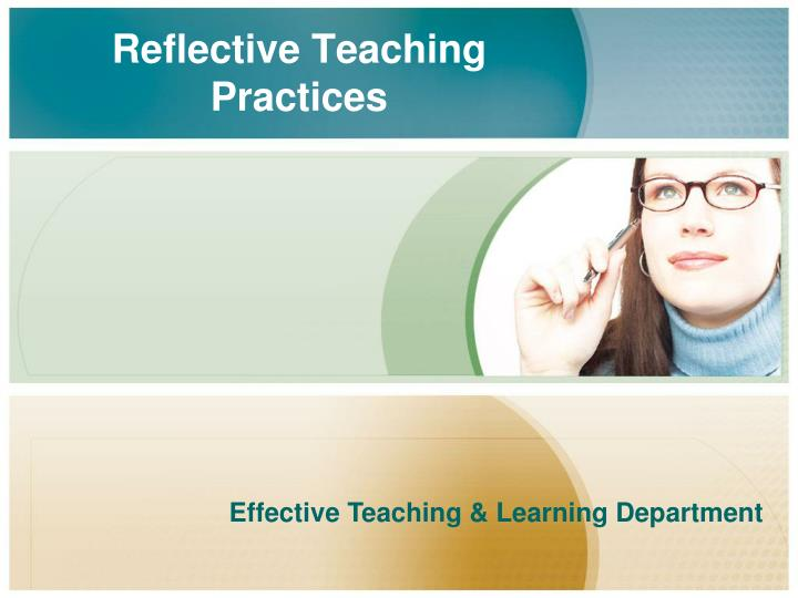 reflective teaching practices n.