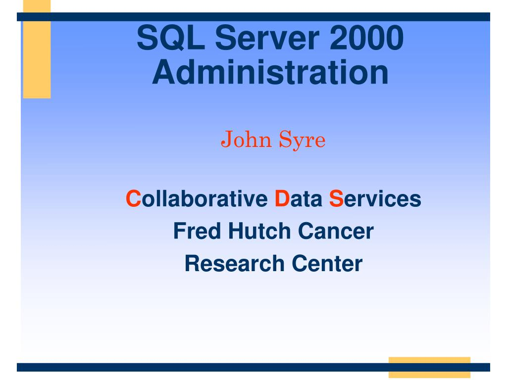 sql server 2000 administration l.