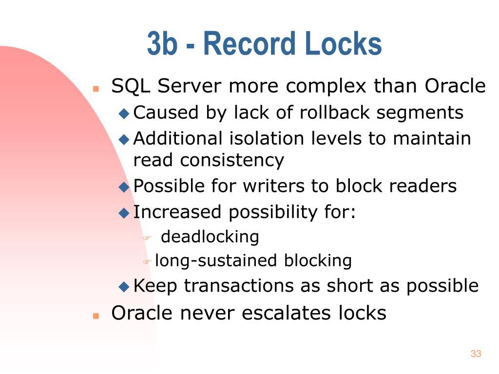 3b - Record Locks