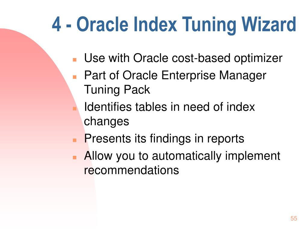 4 - Oracle Index Tuning Wizard