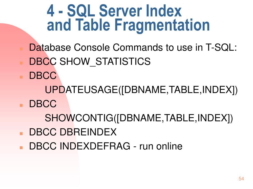 4 - SQL Server Index