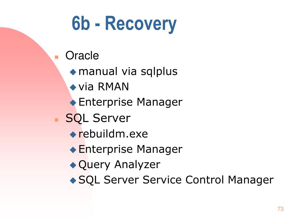 6b - Recovery
