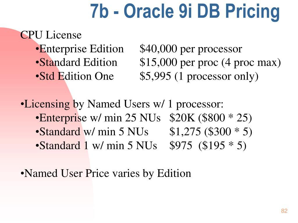 7b - Oracle 9i DB Pricing