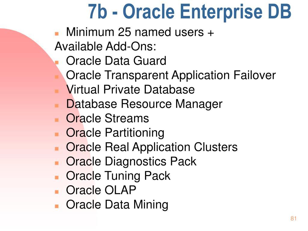 7b - Oracle Enterprise DB