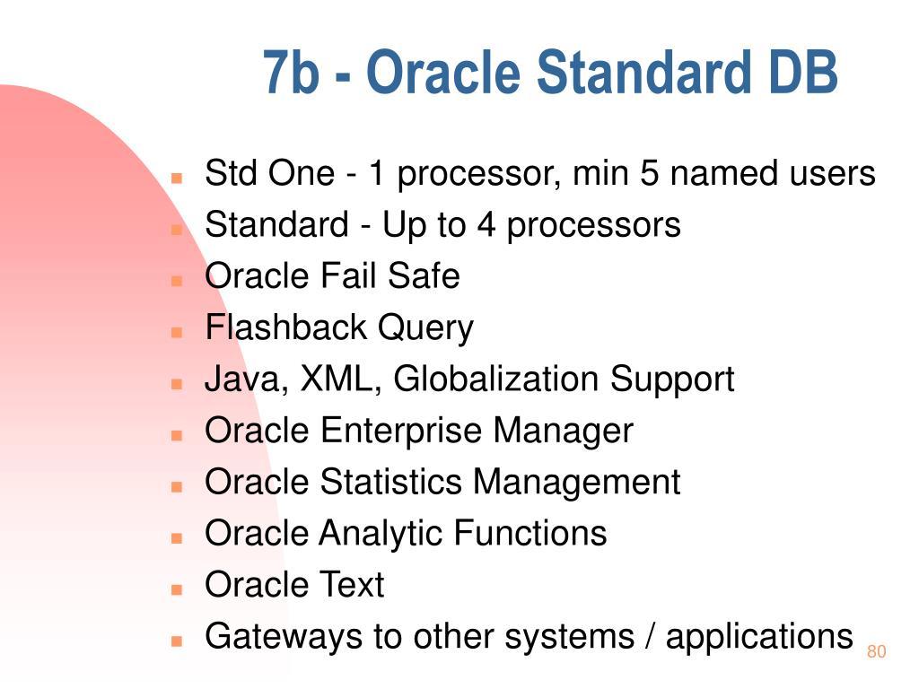 7b - Oracle Standard DB