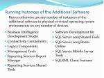 running instances of the additional software