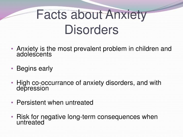 Facts about anxiety disorders