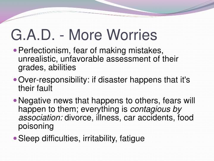 G.A.D. - More Worries