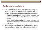 authentication mode