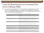 using the reporting services command line tools to manage ssrs45