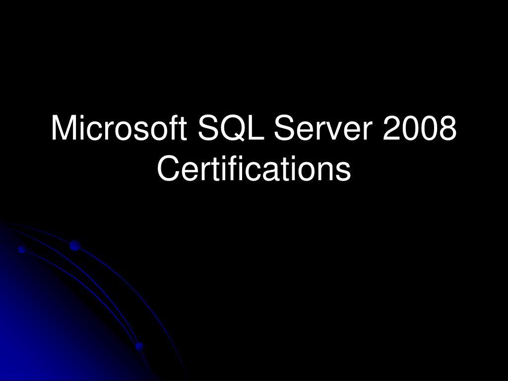 microsoft sql server 2008 certifications l.