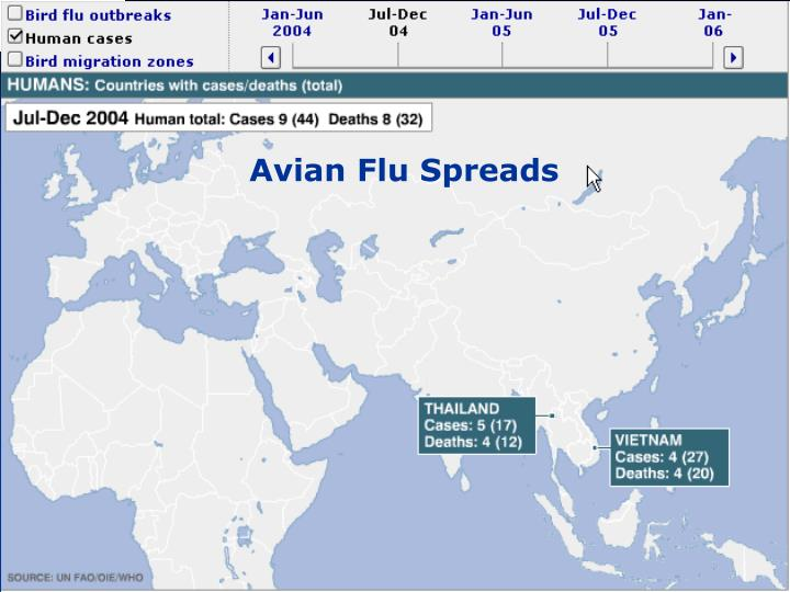 Avian Flu Spreads