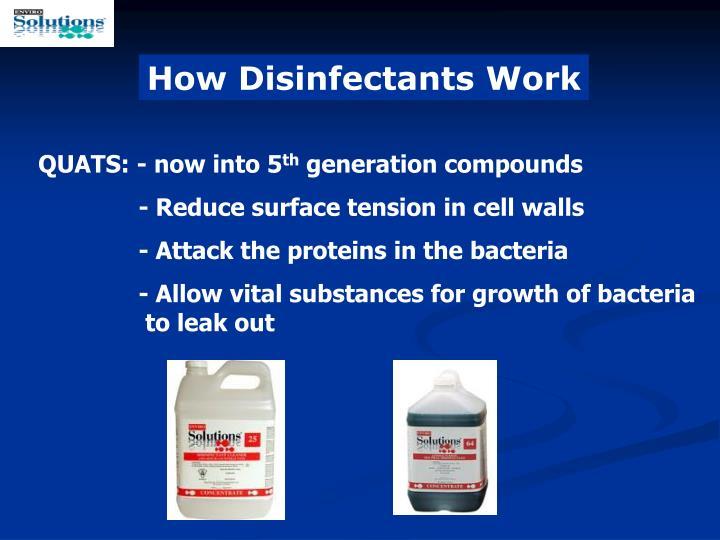 How Disinfectants Work