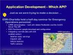 application development which api