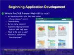 beginning application development