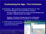 customizing the app flex confusion