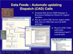 data feeds automate updating dispatch cad calls