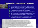 data feeds fire vehicle locations